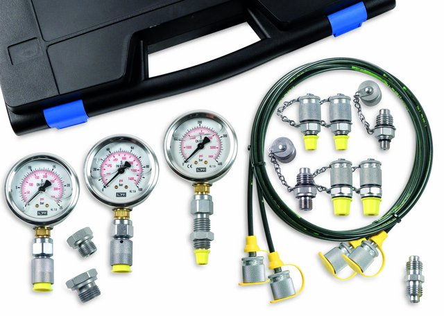 Hydraulik Diagnose KIT_Hydraulics diagnosis_Manometer_Leitenberger