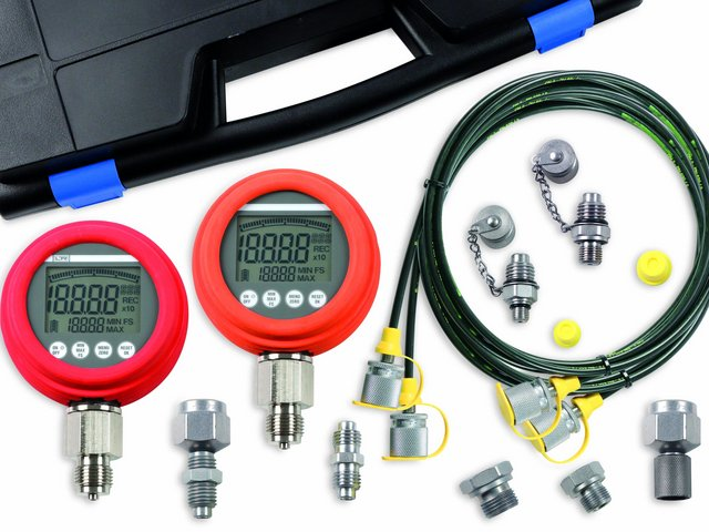 Hydraulik Diagnose KIT_Hydraulics diagnosis_Digital Manometer_Leitenberger