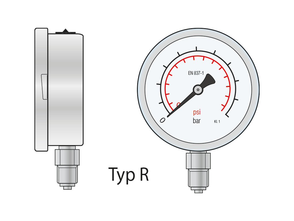 Mechanische Manometer_Rohrfedermanometer TypR_LRGermany